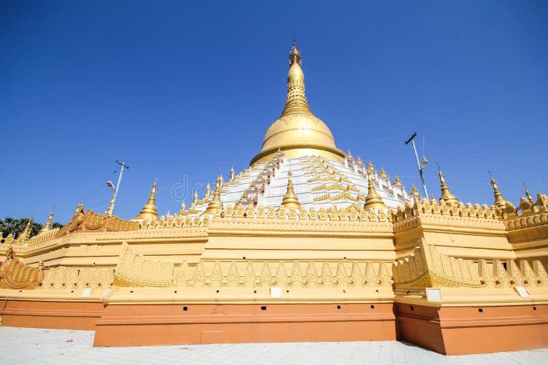 Templo e pagode em Bago, Myanmar imagem de stock