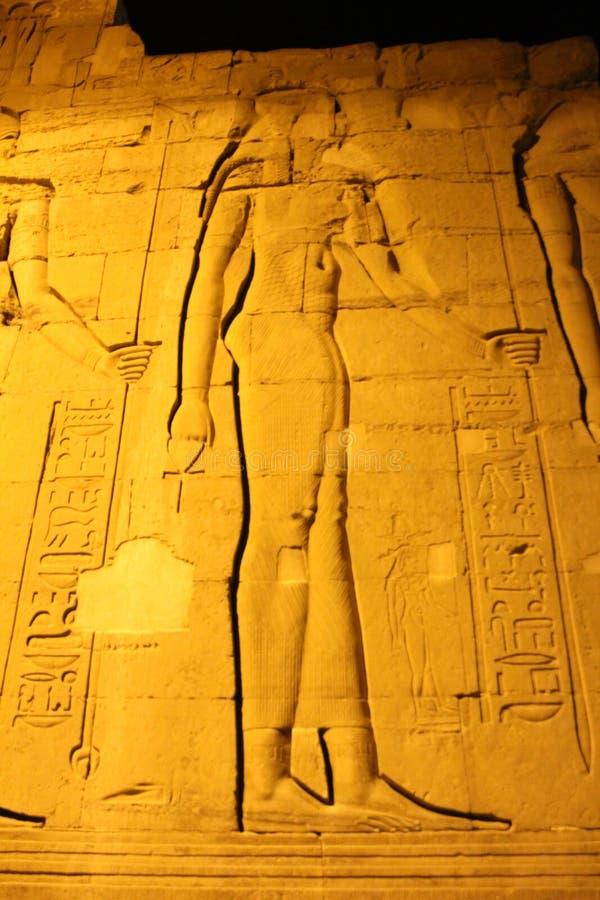 Templo egipcio en Komombo fotos de archivo
