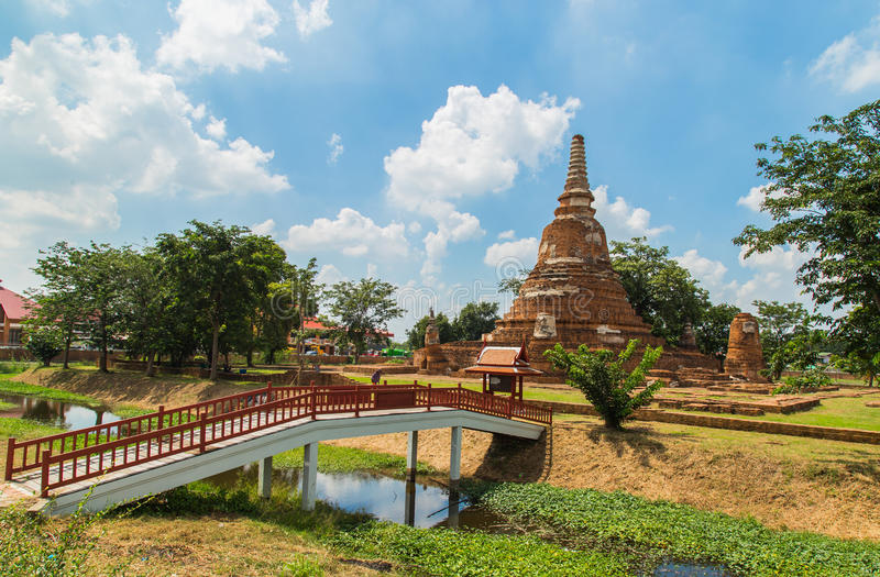Templo em Ayutthaya foto de stock royalty free