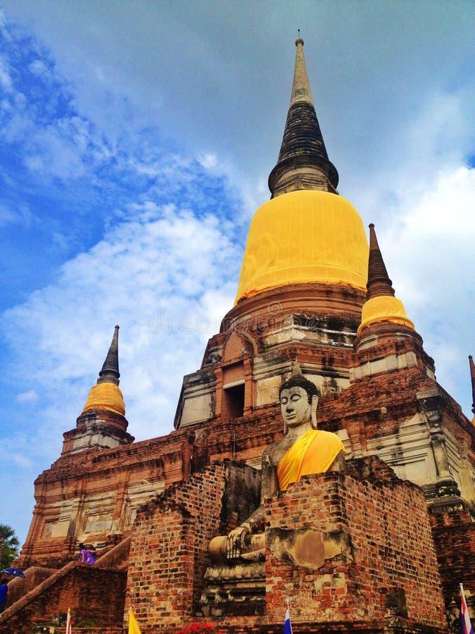 Templo em Ayutthaya fotos de stock