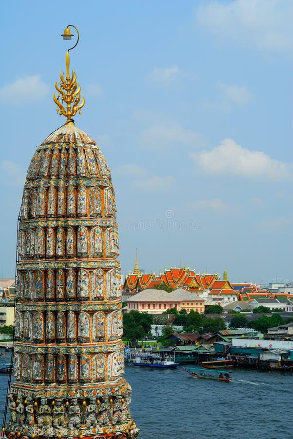 Templo em Banguecoque Wat Arun, Tailândia. foto de stock