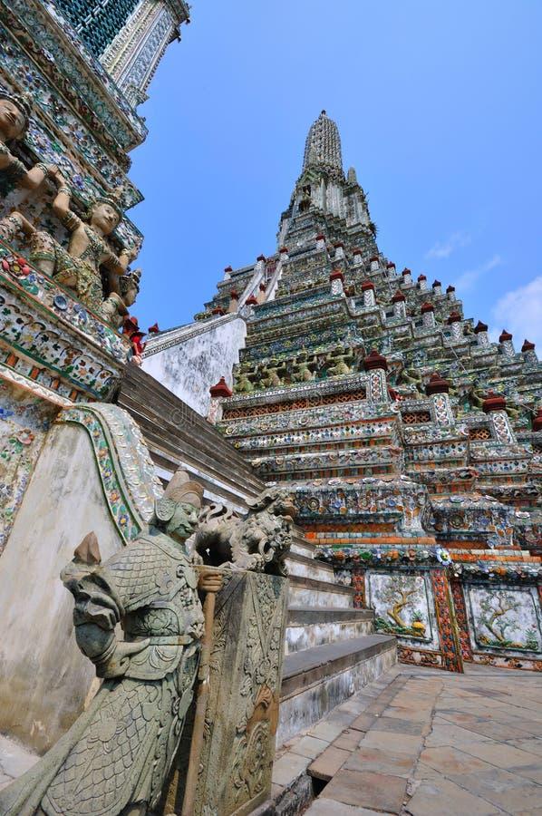 Templo em Banguecoque Wat Arun, Tailândia. fotografia de stock royalty free