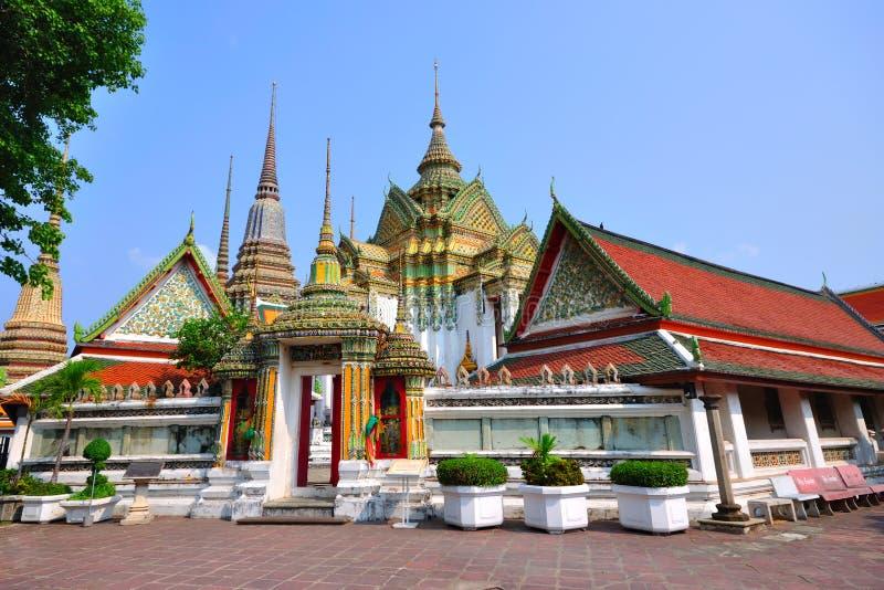 Templo em Banguecoque Wat Pho, Tailândia. fotos de stock