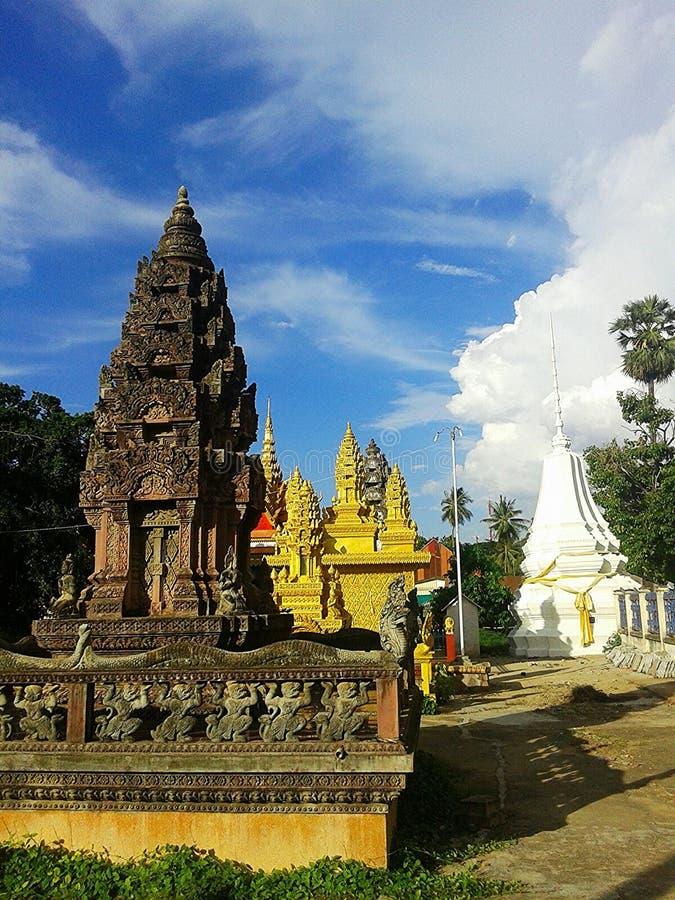 Templo em Cambodia fotografia de stock