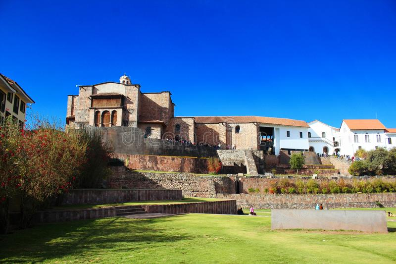 Templo em Cusco foto de stock royalty free