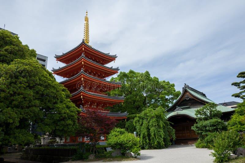 Templo em Fukuoka fotos de stock royalty free