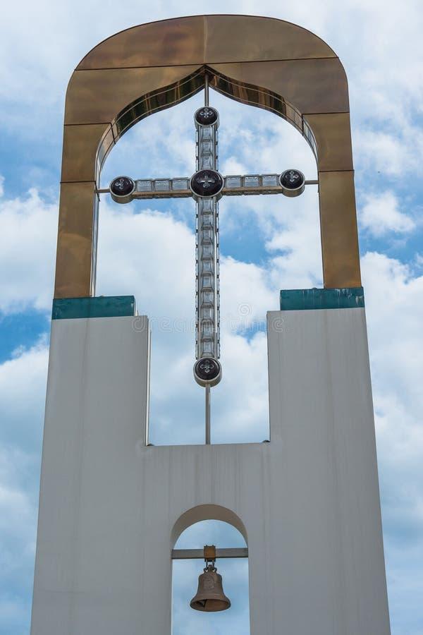 Templo em honra da mãe do ` de Bush ardente do ` do deus na cidade de Dyadkovo, região de Bryansk de Rússia foto de stock royalty free