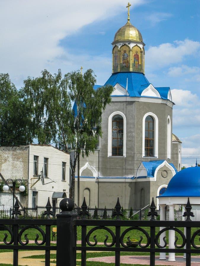 Templo em honra da mãe do ` de Bush ardente do ` do deus na cidade de Dyadkovo, região de Bryansk de Rússia fotografia de stock