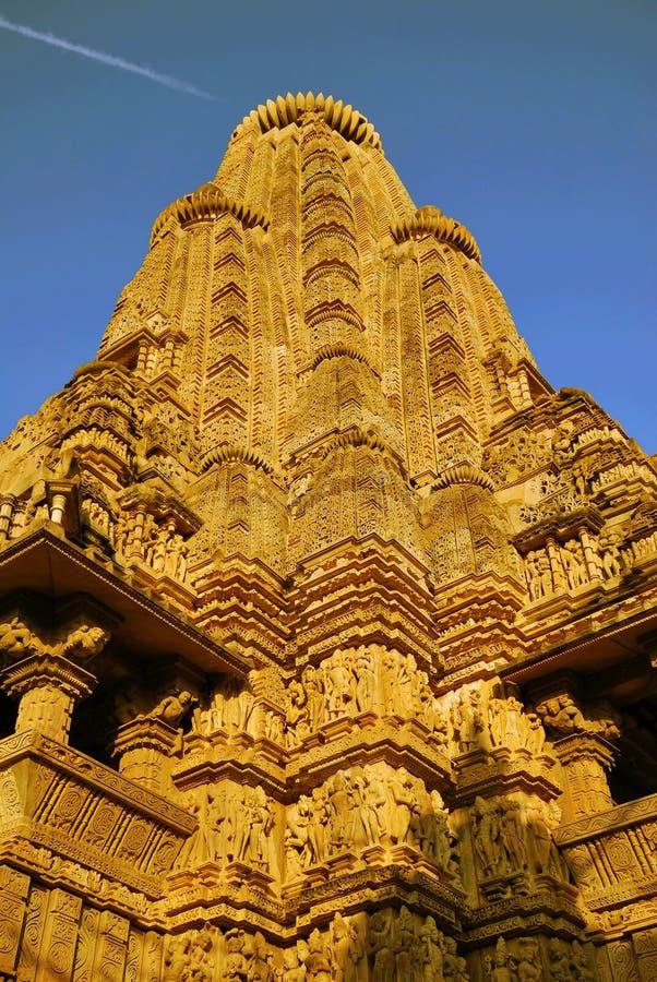 Templo em Khajuraho India imagens de stock
