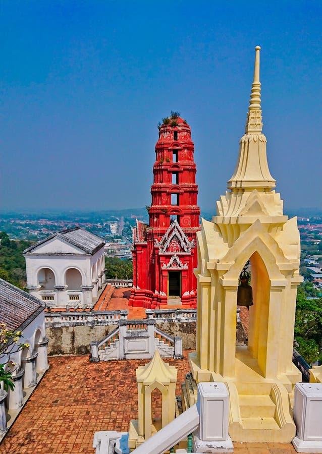 Templo em Tailândia Phra Nakhon Khiri em Tailândia fotografia de stock royalty free