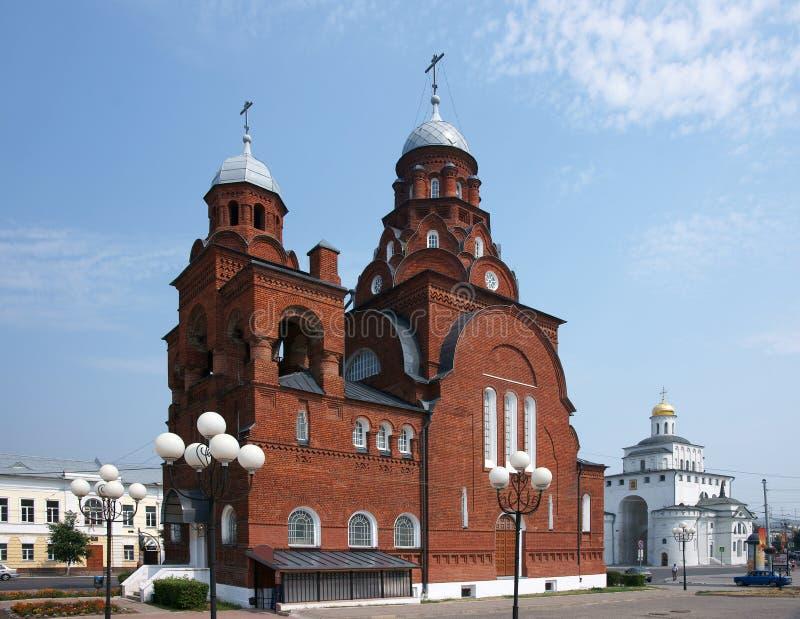 Templo em uma cidade Vladimir fotos de stock