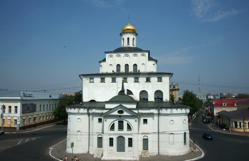 Templo em uma cidade Vladimir imagens de stock royalty free