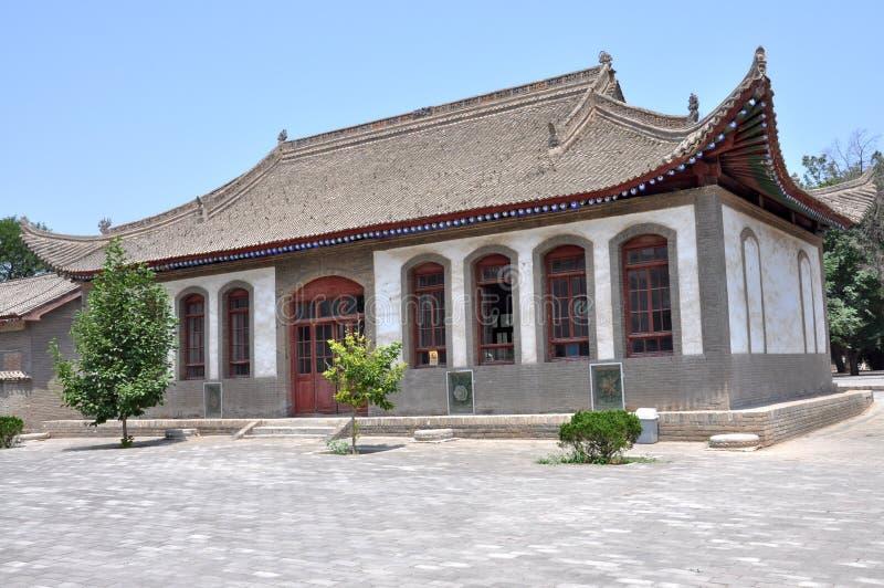 Templo em Zhou Mausoleum imagens de stock