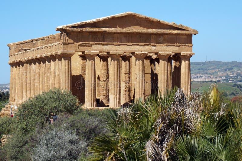 Templo en Agrigento, Sicilia imagen de archivo
