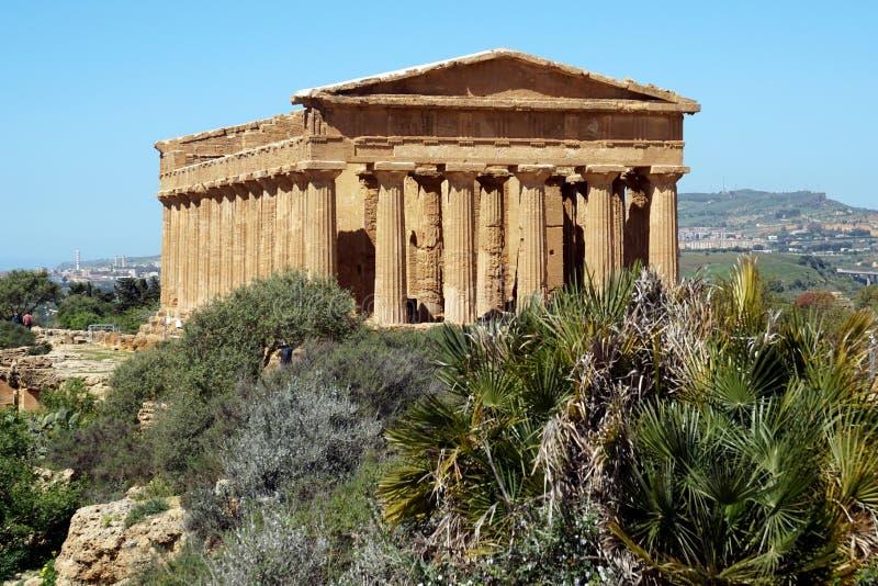 Templo en Agrigento, Sicilia imágenes de archivo libres de regalías