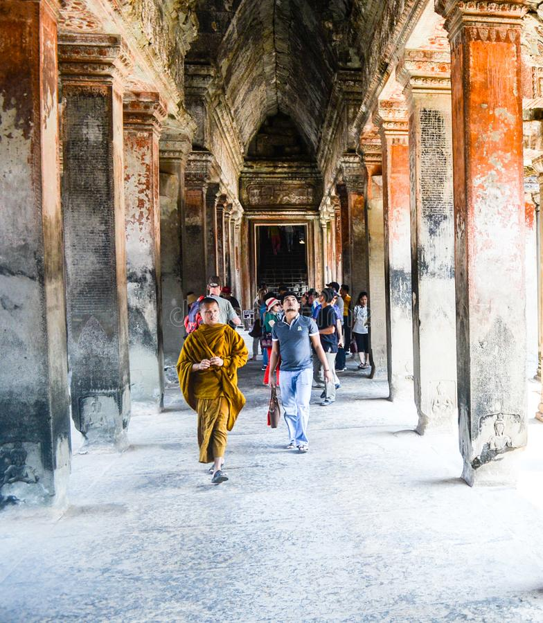 Templo en Anghor Wat imagen de archivo