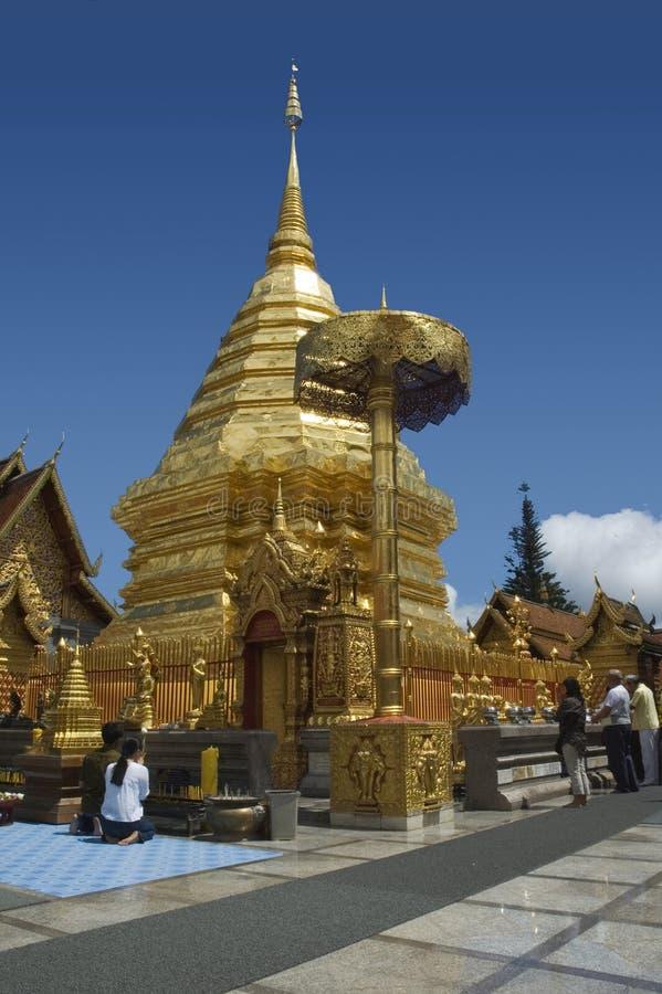 Templo en Chiang Mai imagenes de archivo