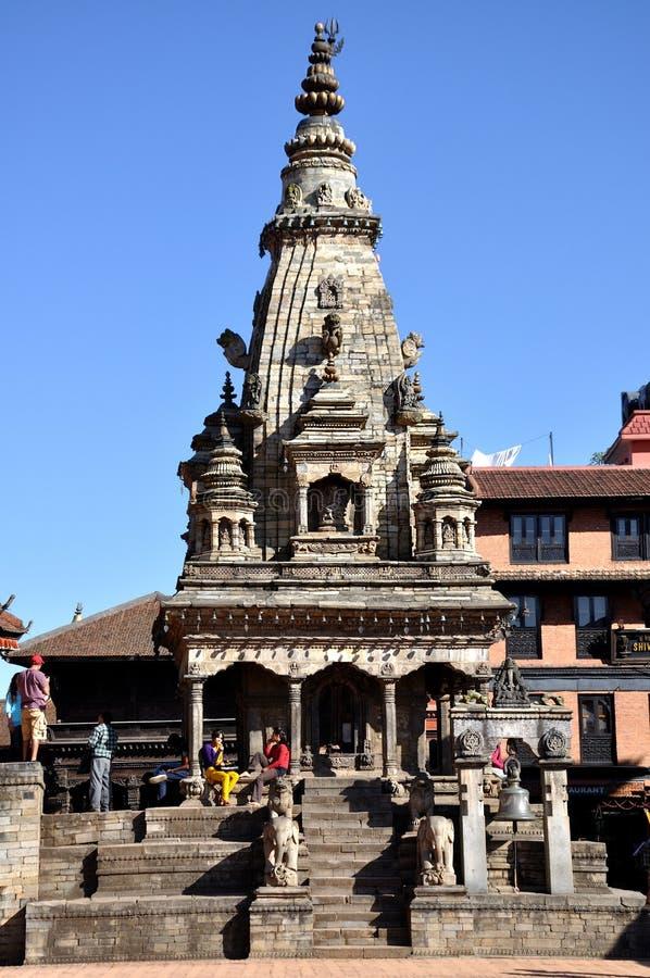 Templo en el cuadrado de Bhaktapur Durbar fotografía de archivo libre de regalías
