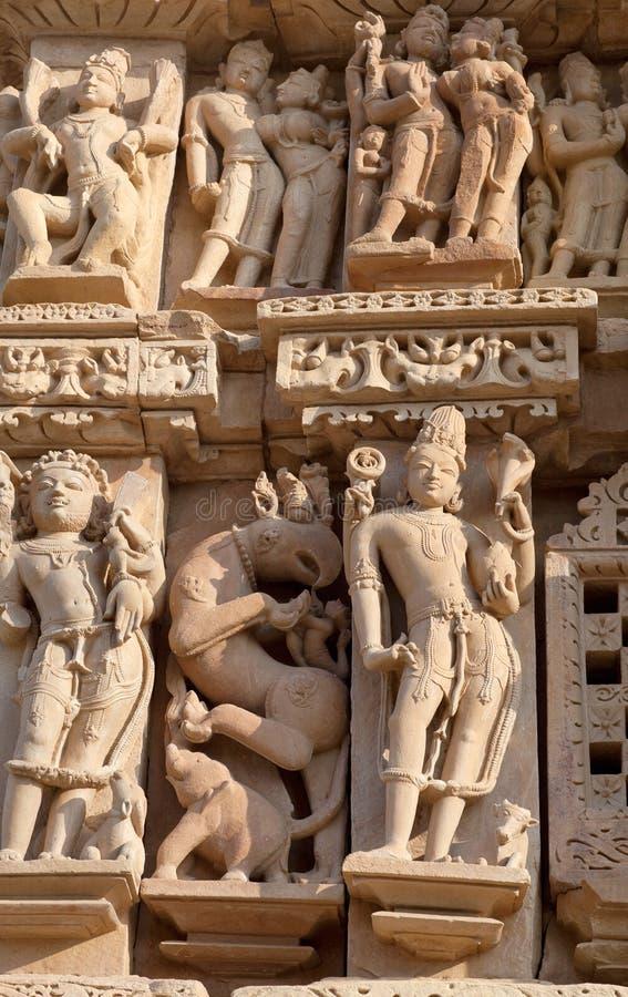 Templo erótico famoso em Khajuraho, India imagem de stock royalty free