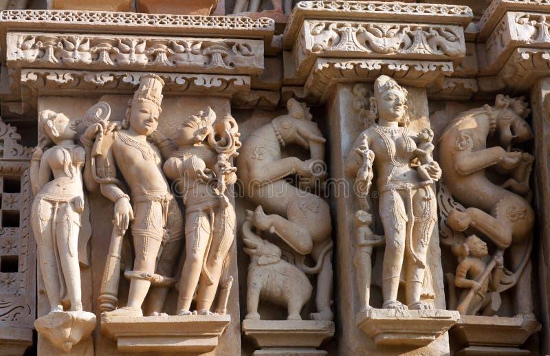 Templo erótico famoso em Khajuraho, India foto de stock royalty free