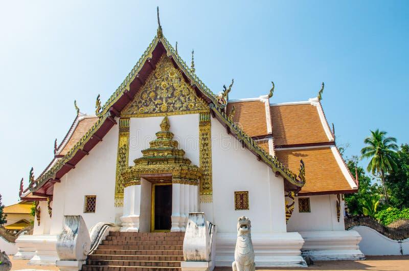 Templo famoso em Nan, Tailândia fotografia de stock