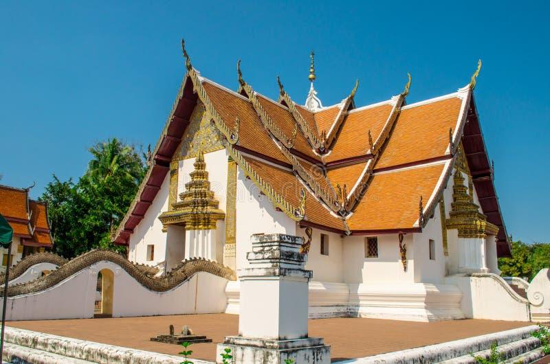 Templo famoso em Nan, Tailândia foto de stock royalty free