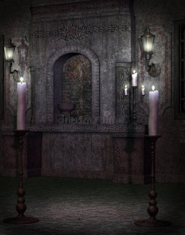 Templo gótico 2 ilustração stock