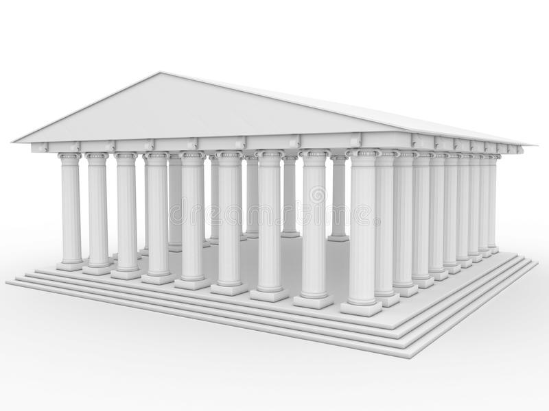 Templo grego #3 ilustração do vetor