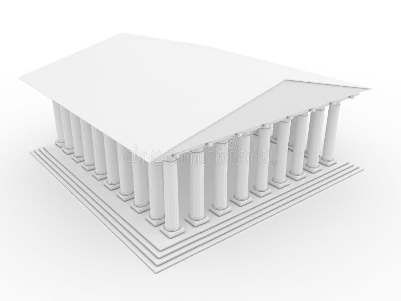 Templo grego #2 ilustração royalty free