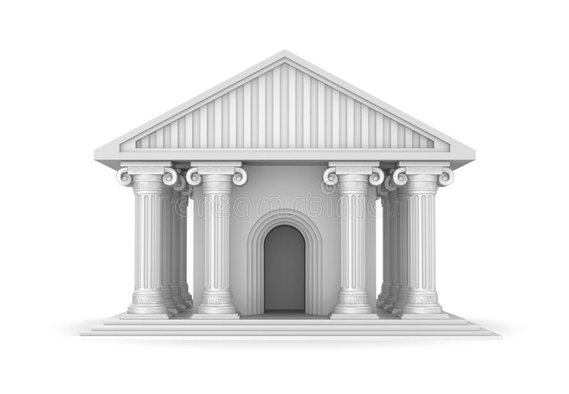 Templo grego antigo clássico ilustração royalty free