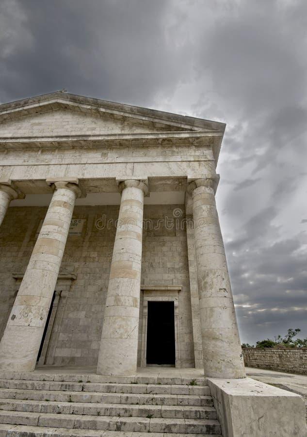 Templo griego foto de archivo
