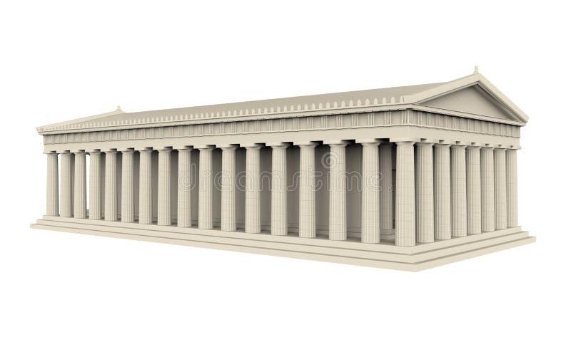 Templo griego aislado ilustración del vector
