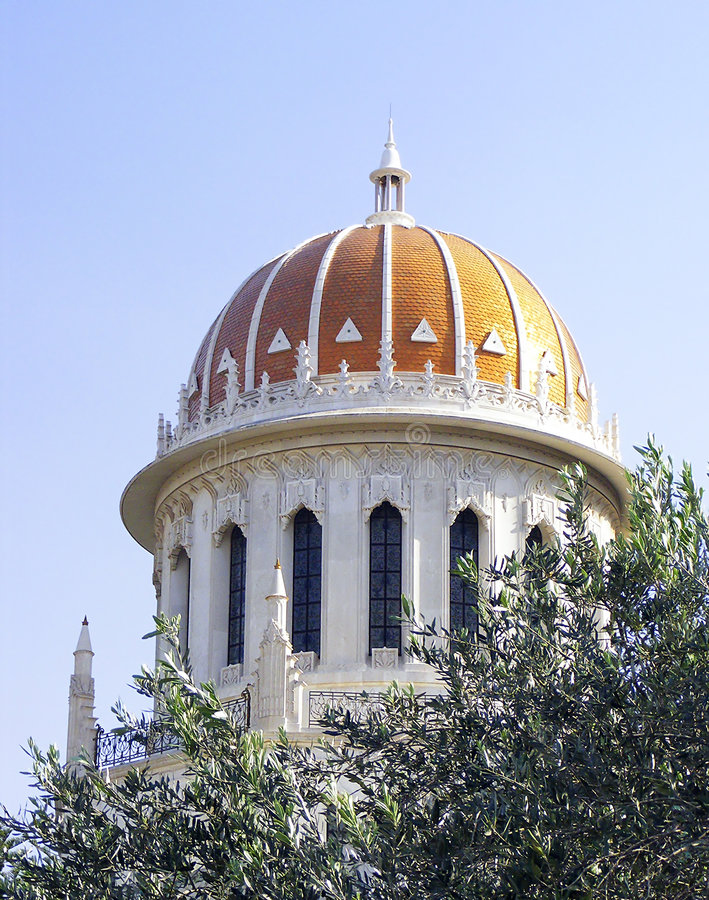 Templo haifa de Bahai imagem de stock royalty free