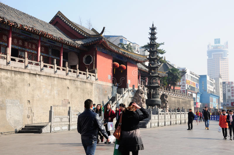 Templo Hefei China de Mingjiao imagem de stock royalty free