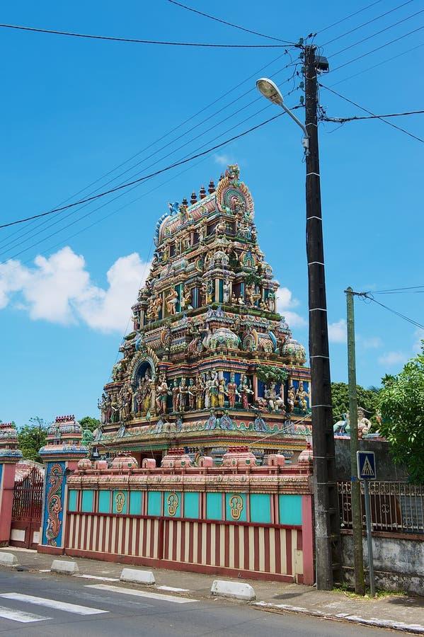 Templo hindú con la decoración tradicional en Saint Paul, reunión imagenes de archivo