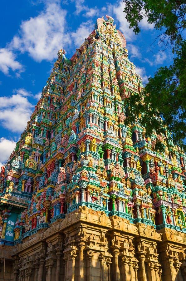 Templo hindú de Meenakshi en Madurai imagenes de archivo