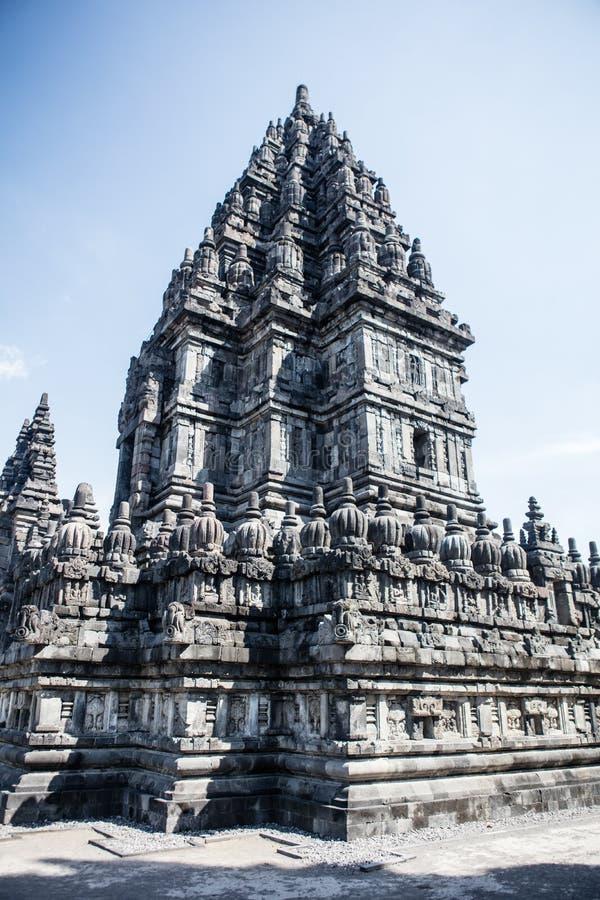 Templo hindú de Prambanan en Indonesia foto de archivo libre de regalías