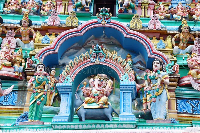 Templo hindú de Sri Mariamman en Singapur foto de archivo libre de regalías
