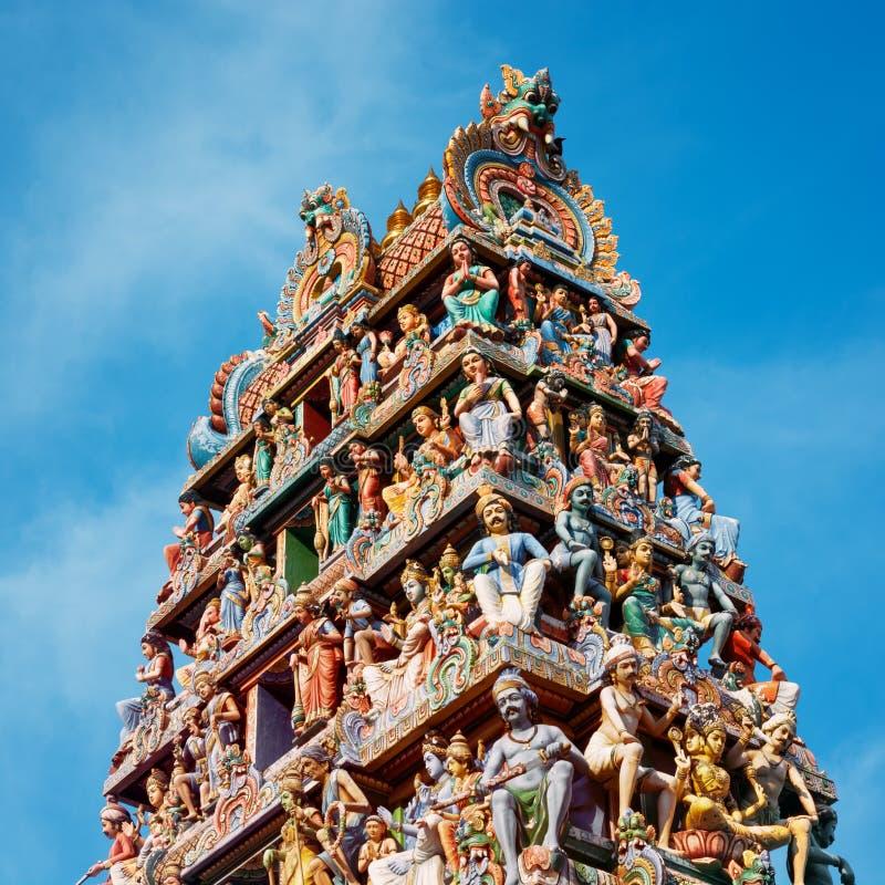 Templo hindú de Sri Mariamman en Singapur imágenes de archivo libres de regalías