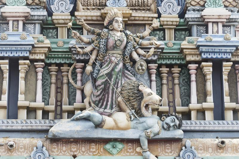 Templo hindú del durga en Trincomalee imágenes de archivo libres de regalías
