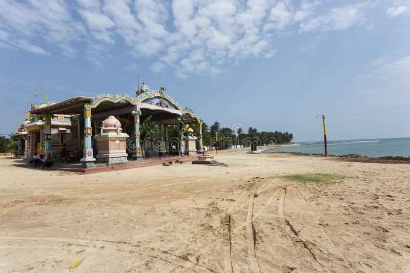 Templo hindú del durga en Trincomalee fotografía de archivo libre de regalías
