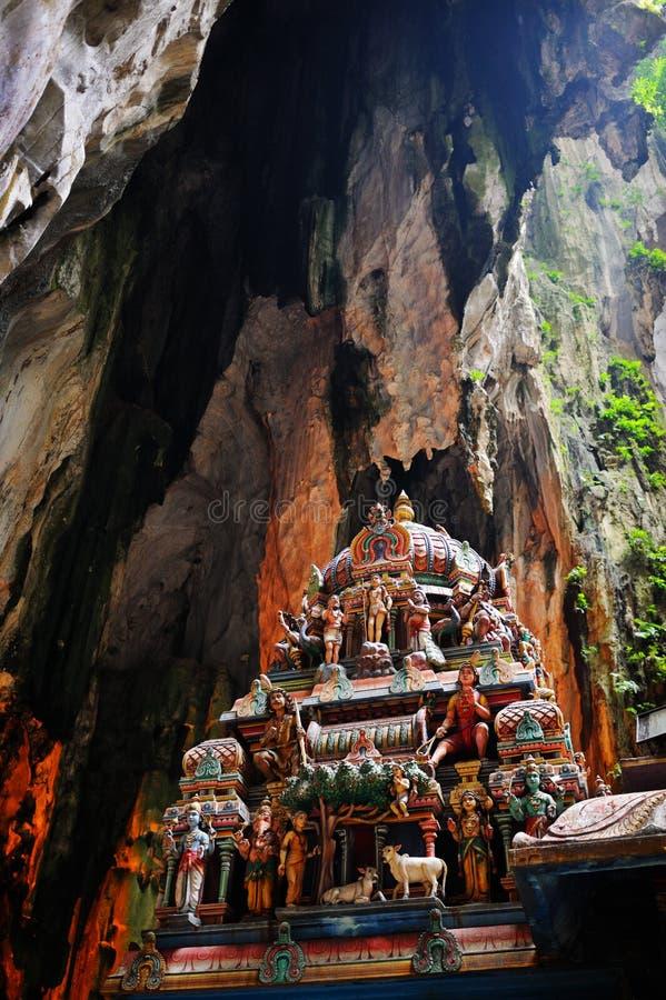 Templo hindú dentro de la cueva de Batu, Kuala Lumpur, Malasia fotografía de archivo libre de regalías
