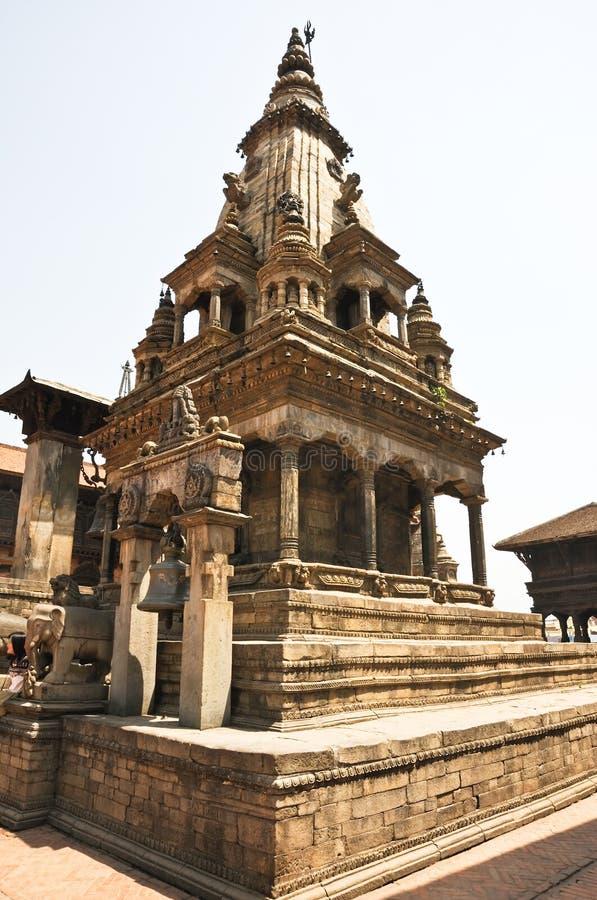 Templo hindú en el cuadrado de Bhaktapur Durbar, Nepal fotos de archivo libres de regalías