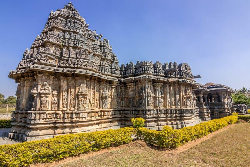 Templo hindú en el destino turístico de Karnataka hasan fotos de archivo libres de regalías