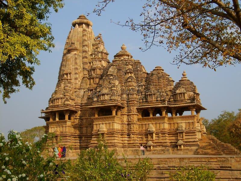Templo hindú en Kajuraho foto de archivo libre de regalías