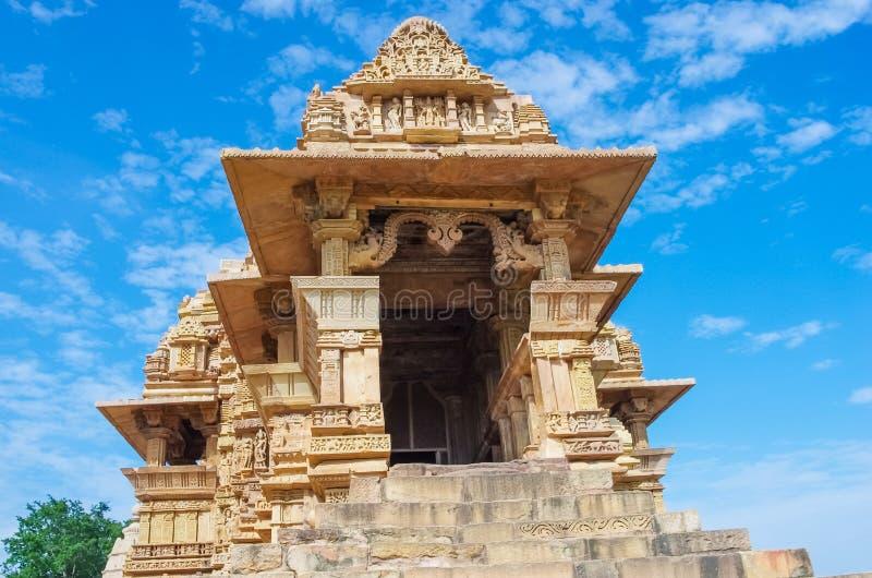 Templo hindú en Khajuraho, la India imagenes de archivo