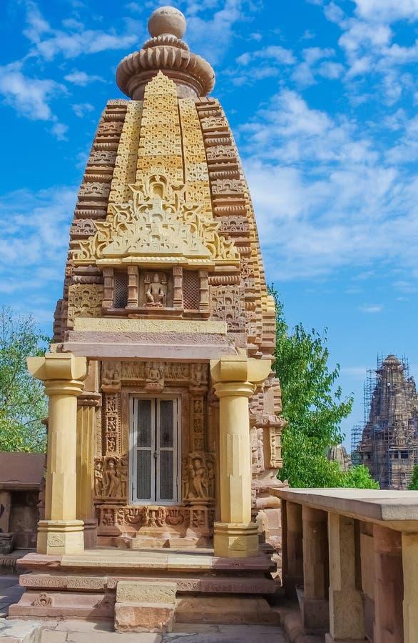 Templo hindú en Khajuraho, la India foto de archivo libre de regalías