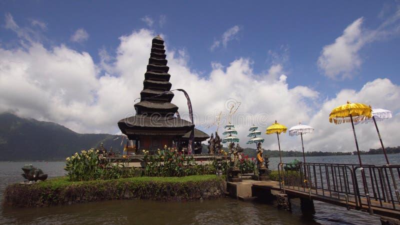 Templo hindú en la isla de Bali Pura Ulun Danu Bratan fotografía de archivo libre de regalías
