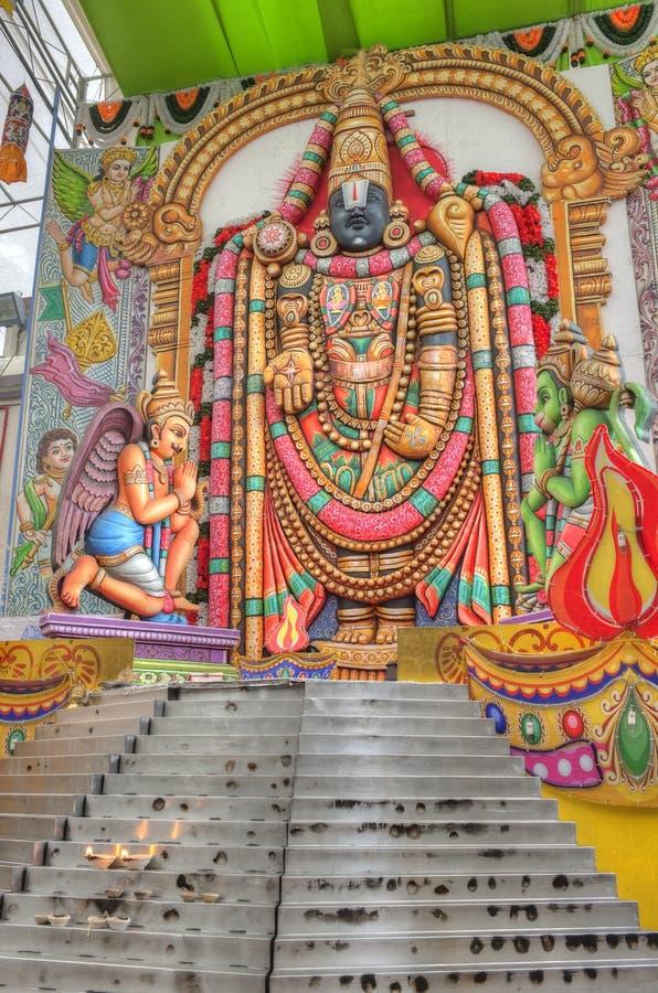 Templo hindú en Singapur imagen de archivo