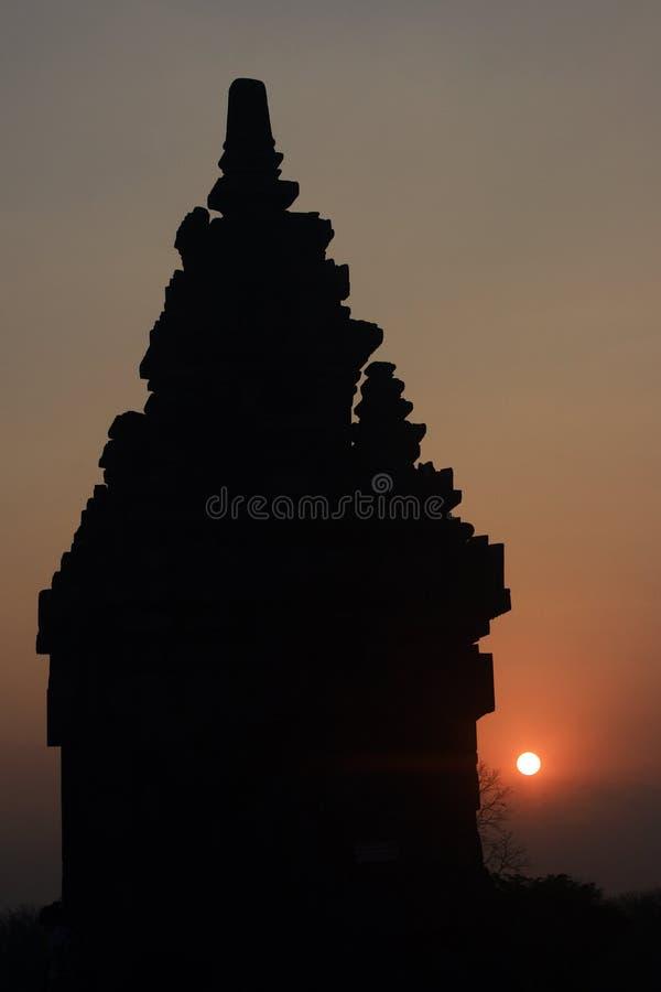 Templo hindú Prambanan fotos de archivo